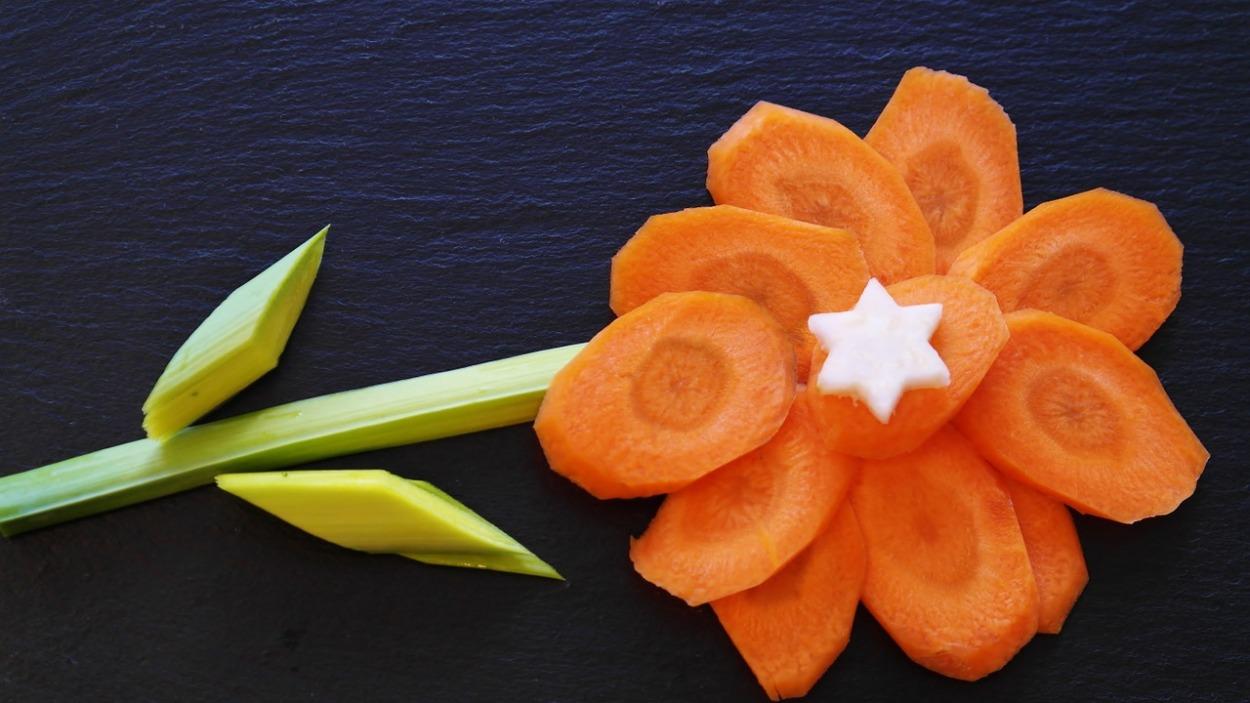 carrot as a flower shape